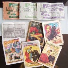 Carteles Toros: LOTE ENTRADAS Y PROGRAMAS DE TOROS - CARTELES TAURINOS FERIA SAN ISIDRO AÑOS 60. Lote 158954878