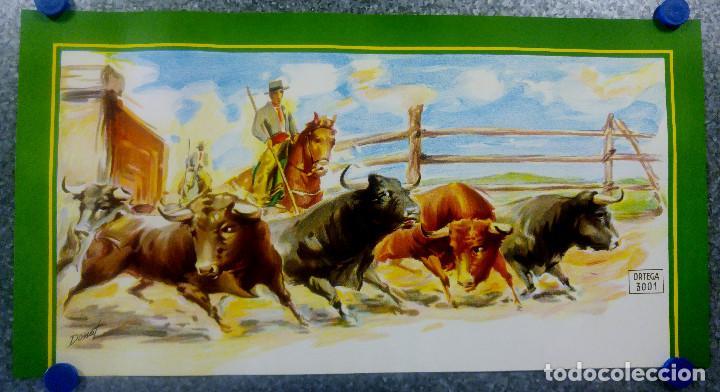 BONITO CARTEL TOROS. ILUSTRADOR DONAT - TOROS REJONEADOR - LITOGRAFIA (Coleccionismo - Carteles Gran Formato - Carteles Toros)