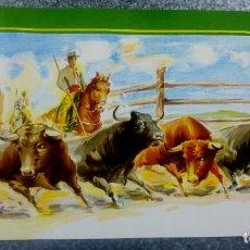 Carteles Toros: BONITO CARTEL TOROS. ILUSTRADOR DONAT - TOROS REJONEADOR - LITOGRAFIA. Lote 159232514