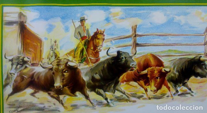 Carteles Toros: BONITO CARTEL TOROS. ILUSTRADOR DONAT - TOROS REJONEADOR - LITOGRAFIA - Foto 2 - 159232514