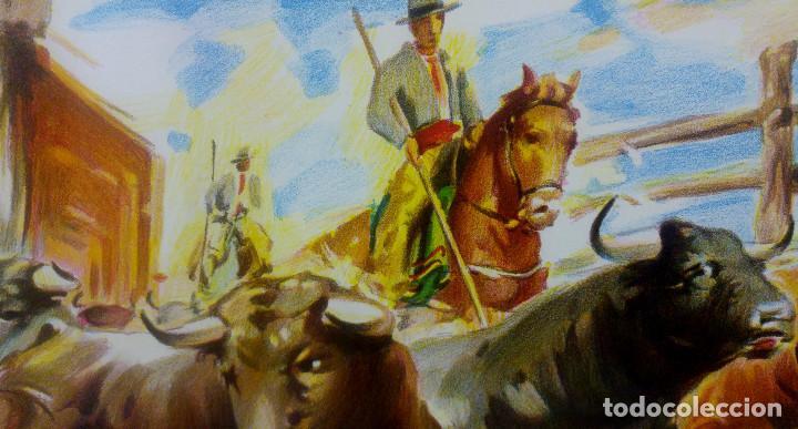 Carteles Toros: BONITO CARTEL TOROS. ILUSTRADOR DONAT - TOROS REJONEADOR - LITOGRAFIA - Foto 3 - 159232514