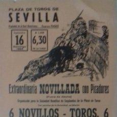Carteles Toros: CARTEL. PLAZA TOROS DE SEVILLA. 1984. LEER.. Lote 160760718