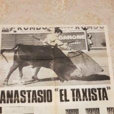 Carteles Toros: ANASTASIO EL TAXISTA,CARTEL.. Lote 161457824
