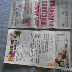 Carteles Toros: CARTELES DE TOROS DE ANTEQUERA 1969 1972. Lote 161939398