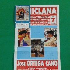 Carteles Toros: CARTEL DE TOROS, MEDIDAS 44X21 CM. APROX.. Lote 162384610