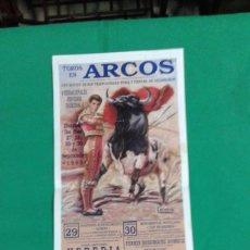 Carteles Toros: CARTEL DE TOROS, MEDIDAS 44X21 CM. APROX.. Lote 162384718