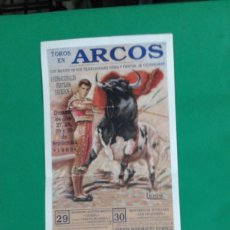 Carteles Toros: CARTEL DE TOROS, MEDIDAS 44X21 CM. APROX.. Lote 162384766