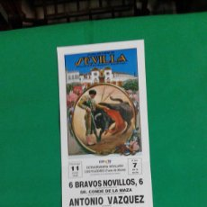 Carteles Toros: CARTEL DE TOROS, MEDIDAS 44X21 CM. APROX.. Lote 162384874