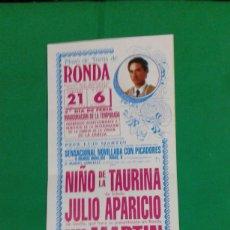 Carteles Toros: CARTEL DE TOROS, MEDIDAS 44X21 CM. APROX.. Lote 162385126