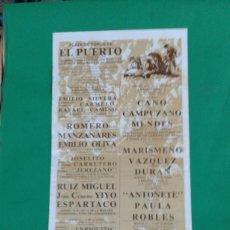 Carteles Toros: CARTEL DE TOROS, MEDIDAS 44X21 CM. APROX.. Lote 162385442