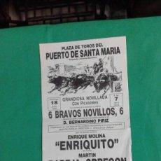 Carteles Toros: CARTEL DE TOROS, MEDIDAS 44X21 CM. APROX.. Lote 162385666