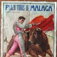 Carteles Toros: CARTEL PLAZA DE TOROS DE MALAGA 15 OCTUBRE 1972. Lote 162385782