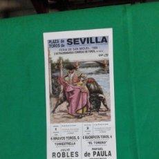 Carteles Toros: CARTEL DE TOROS, MEDIDAS 44X21 CM. APROX.. Lote 162385818