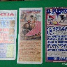 Carteles Toros: LOTE 3 CARTELES VARIADOS DE TOROS MEDIDAS 34X16 CM APROX.. Lote 162392626