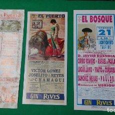 Carteles Toros: LOTE 3 CARTELES VARIADOS DE TOROS MEDIDAS 34X16 CM APROX.. Lote 162392738
