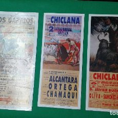 Carteles Toros: LOTE 3 CARTELES VARIADOS DE TOROS MEDIDAS 34X16 CM APROX.. Lote 162392798