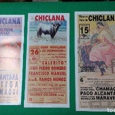 Carteles Toros: LOTE 3 CARTELES VARIADOS DE TOROS MEDIDAS 34X16 CM APROX.. Lote 162392846