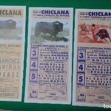 Carteles Toros: LOTE 3 CARTELES VARIADOS DE TOROS MEDIDAS 34X16 CM APROX.. Lote 162392958