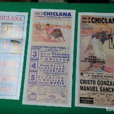 Carteles Toros: LOTE 3 CARTELES VARIADOS DE TOROS MEDIDAS 34X16 CM APROX.. Lote 162393122