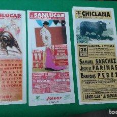 Carteles Toros: LOTE 3 CARTELES VARIADOS DE TOROS MEDIDAS 34X16 CM APROX.. Lote 162393198