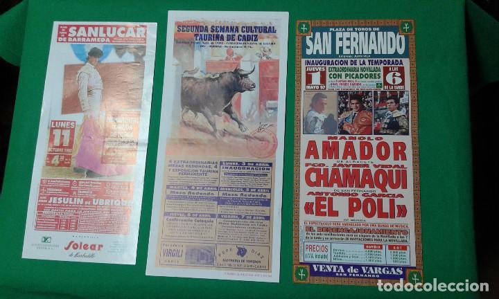LOTE 3 CARTELES VARIADOS DE TOROS MEDIDAS 34X16 CM APROX. (Coleccionismo - Carteles Gran Formato - Carteles Toros)