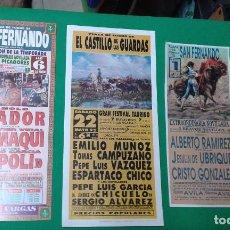 Carteles Toros: LOTE 3 CARTELES VARIADOS DE TOROS MEDIDAS 34X16 CM APROX.. Lote 162393326