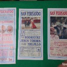 Carteles Toros: LOTE 3 CARTELES VARIADOS DE TOROS MEDIDAS 34X16 CM APROX.. Lote 162393510