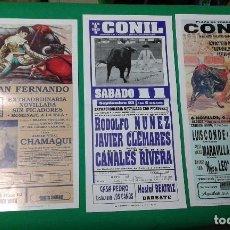 Carteles Toros: LOTE 3 CARTELES VARIADOS DE TOROS MEDIDAS 34X16 CM APROX.. Lote 162393606