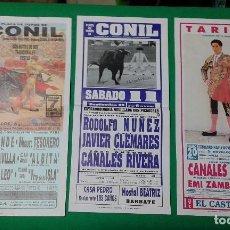 Carteles Toros: LOTE 3 CARTELES VARIADOS DE TOROS MEDIDAS 34X16 CM APROX.. Lote 162393674