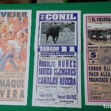 Carteles Toros: LOTE 3 CARTELES VARIADOS DE TOROS MEDIDAS 34X16 CM APROX.. Lote 162393766