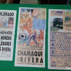 Carteles Toros: LOTE 3 CARTELES VARIADOS DE TOROS MEDIDAS 34X16 CM APROX.. Lote 162393910