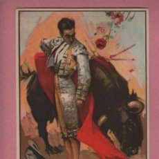 Carteles Toros: CARTEL DE TOROS - 16X13 PAPEL GRUESO - RUANO LLOPIS ? TORERO DANDO UN PASE. Lote 163063374