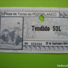 Carteles Toros: ENTRADA PLAZA DE TOROS DE POZOBLANCO. MUERTE DE PAQUIRRI. 26-9-1984. CORDOBA. Lote 163603778