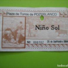 Carteles Toros: ENTRADA PLAZA DE TOROS DE POZOBLANCO. MUERTE DE PAQUIRRI 26-9-1984. CÓRDOBA. Lote 163723946