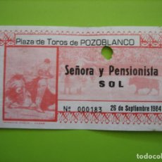 Carteles Toros: ENTRADA PLAZA DE TOROS DE POZOBLANCO. MUERTE DE PAQUIRRI 26-9-1984. CÓRDOBA. Lote 163724010