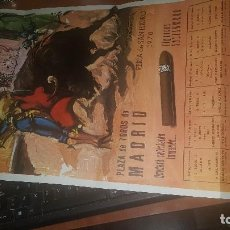 Affissi Tauromachia: 50 ANIVERSARIO MUERTE DE JOSELITO EN TALAVERA, CARTEL PLAZA TOROS DE MADRID, EN PAPEL, FERIA 1970. Lote 164629818