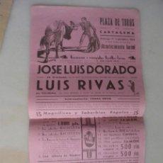 Carteles Toros: CARTEL PLAZA TOROS CARTAGENA 1944. Lote 164910982