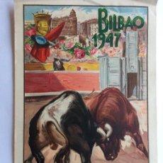 Carteles Toros: CARTEL TOROS BILBAO 1947. Lote 165028498