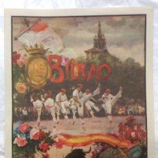 Carteles Toros: CARTEL PLAZA TOROS BILBAO 1955. Lote 165032250
