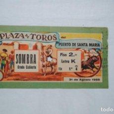 Carteles Toros: PLAZA DE TOROS PUERTO DE SANTA MARIA 1958 . Lote 165033570