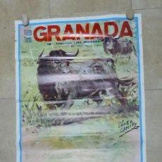 Carteles Toros: CARTEL GRANDE TOROS - GRANADA - FERIA TAURINA CORPUS JUNIO DE 1987 - LOPEZ CANITO. Lote 165158698