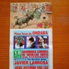 Carteles Toros: CARTEL DE LA PLAZA DE TOROS DE ONDARA. Lote 163044242