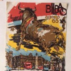 Carteles Toros: CARTEL DE TOROS BILBAO 1965 . Lote 165163130
