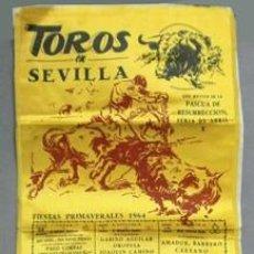 Carteles Toros: CARTEL DE TOROS EN SEDA TOROS EN SEVILLA FERIA DE SEVILLA 1964 - CARTELTOROS-012. Lote 165182202