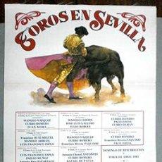 Carteles Toros: CARTEL DE TOROS EN SEDA - SEVILLA, FERIA DE ABRIL 1983 - CARTELTOROS-025 ,2. Lote 165332442