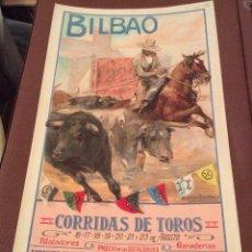 Carteles Toros: CARTEL DE TOROS DE BILBAO 1925-IDEAL COLECCIONISTAS. Lote 165535526