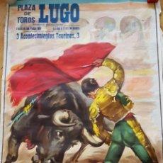 Carteles Toros: CARTEL CORRIDAS TOROS EN LUGO 1980 Y CARTEL TOREROS QUE ACTUARON. Lote 262843415