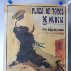 Carteles Toros: CARTEL TOROS MURCIA - JUANITO BELMONTE, GALLITO, VAZQUEZ - AÑO 1942 - LITOGRAFIA RUANO LLOPIS. Lote 167047620