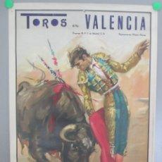 Carteles Toros: CARTEL TOROS, PLAZA VALENCIA, 1966, JESUS LADERAS, ROJAS, EL NORTEÑO, CTT1. Lote 167138696