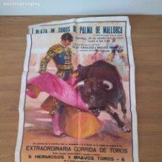 Cartazes Touros: PLAZA DE TOROS PALMA ELOY CAVAZOS 1975. Lote 167186984